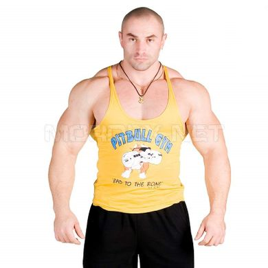 Pitbull Gym, Майка Bad To The Bone, Желтая