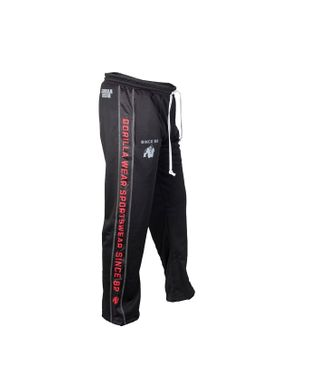 Gorilla Wear, Штаны спортивные ровные Functional mesh pants Black/Red
