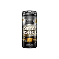 MuscleTech, Рыбий жир Platinum 100% Omega Fish Oil, 100 капсул