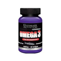 Ultimate Nutrition, Omega 3, 90 капсул