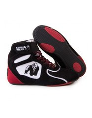 "Gorilla Wear, Кроссовки Chicago High Tops - Black/White/Red ""Limited"", Черный/красный, 37"