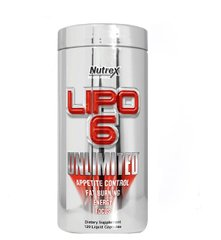 Nutrex Research Жироспалювач Lipo-6 Unlimited, 120 капсул