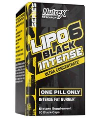 Nutrex Research, Жиросжигатель Lipo-6 Black Intense Ultra concentrate, 60 капсул